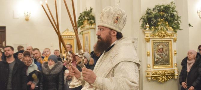 В праздник Рождества Христова епископ Агафангел совершил великую вечерню